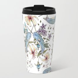 Narwhal pattern Travel Mug