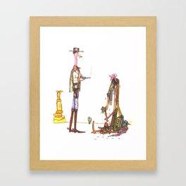Flamingo Fist Full of Dollars Framed Art Print
