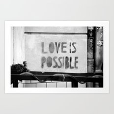 Love is possible - Berlin stencil Art Print