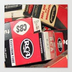 Funky Vintage RCA Radio Tube  Canvas Print