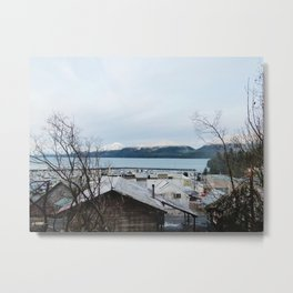 Winter Town Metal Print