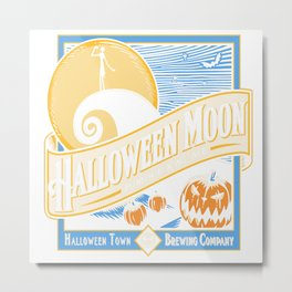 Halloween Moon Metal Print