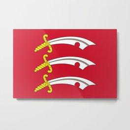 Flag of Essex Metal Print