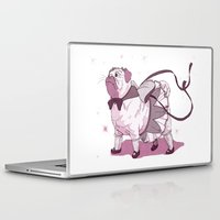 magical girl Laptop & iPad Skins featuring Magical Girl Pug by Bethan Lientie