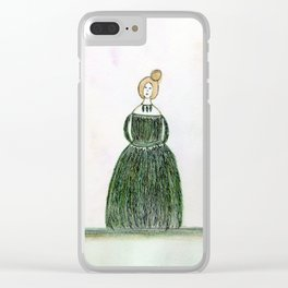 She Was Clothed in the Finest Feathers Clear iPhone Case