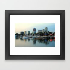 A Slice of Long Beach, CA Framed Art Print