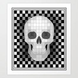 Chess Skull Art Print