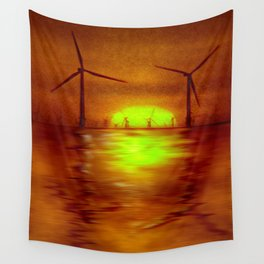 As the Sun goes down (Digital Art) Wall Tapestry