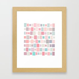 Abstract Pink Pattern Frames Framed Art Print