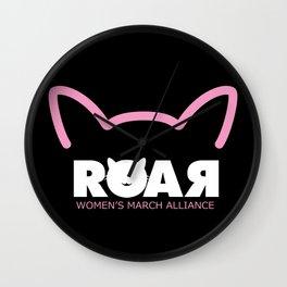 Black Woman Roar Wall Clock
