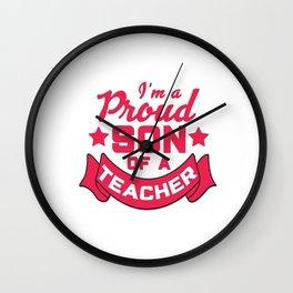 Best Teacher teaching 4th school love children teach Tshirt Wall Clock