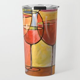 Whites and Reds ... abstract wine glass art, kitchen bar prints Travel Mug