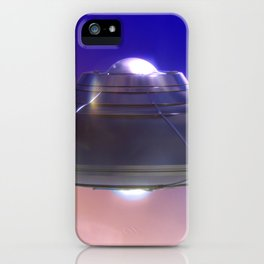 Retro Flying Saucer iPhone Case
