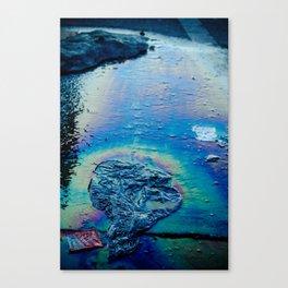 Oil Trash Canvas Print