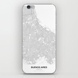 Buenos Aires, Argentina Minimalist Map iPhone Skin