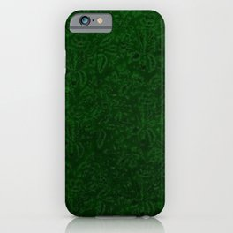 Vintage Floral Forest Emerald Green iPhone Case