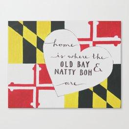 Old Bay & Natty Boh - Baltimore, Maryland print Canvas Print