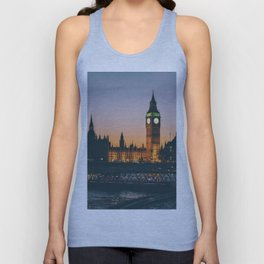 London during Sunset on the Water Unisex Tank Top
