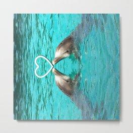 Dolphin Love Metal Print