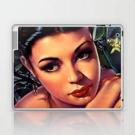 Jesus Helguera Painting of a Sultry Spanish Calendar Girl Laptop & iPad Skin
