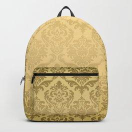 Gold tones floral damasks pattern Backpack
