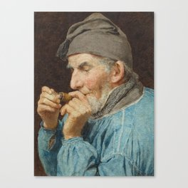 ANKER, ALBERT (1831 Ins 1910) Bauer whistle. 1908th Canvas Print