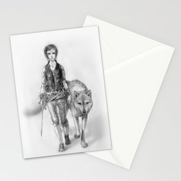 Wolfgirl Stationery Cards