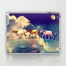 Horse to the moon Laptop & iPad Skin