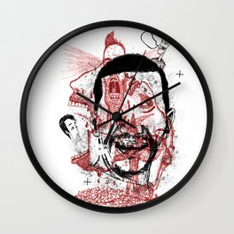 Chaotic mind Wall Clock