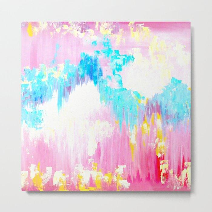 Abstract Pink Pastel Prints Metal Print