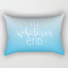 To Whatever End (Blue) Rectangular Pillow
