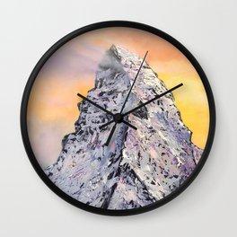 Matterhorn. Sunset. Swiss Alps Wall Clock