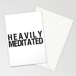 Heavily Meditated Print Stationery Cards