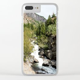 Headwaters of the Mighty Uncompahgre River Clear iPhone Case