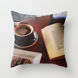 Chocolate Sawyer Throw Pillow