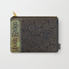 Jane Eyre by Charlotte Bronte, Vintage Book Cover Carry-All Pouch