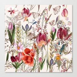 Bright spring field. Romantic pattern Canvas Print