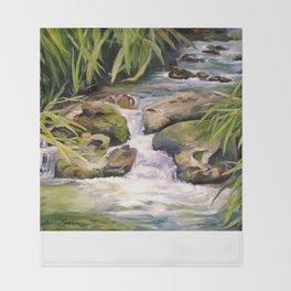 Water Oasis Throw Blanket