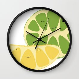 Lemon & Lime Zest Friends Wall Clock