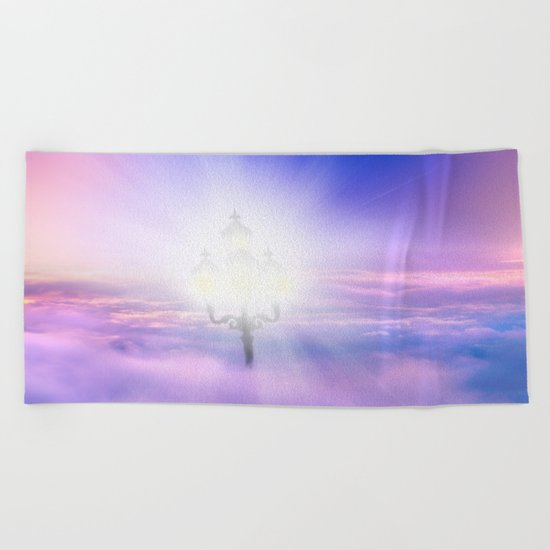 Lights Above the Clouds Beach Towel