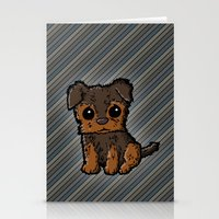 caleb troy Stationery Cards featuring Troy - Silky Terrier by Sylvester Pyke