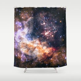 Celestial Fireworks Shower Curtain