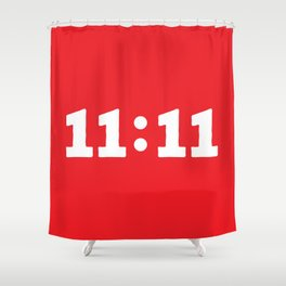 11:11 Red Shower Curtain