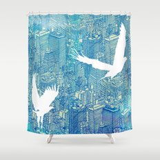 Ecotone (day) Shower Curtain