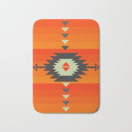Southwestern in orange and red Bath Mat