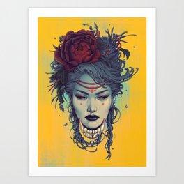 Fox Witch 2 Art Print