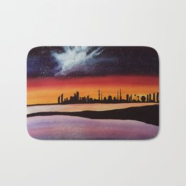 Abu Dhabi, watercolor Bath Mat