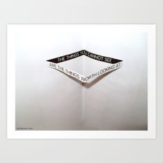 Cannotsee Art Print