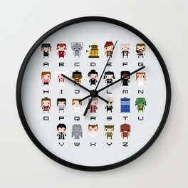 Doctor Who Alphabet Wall Clock