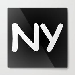 StateMeant USA New York NY Metal Print